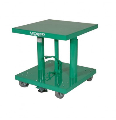 "Lexco HT-318-FR 28-46"" Height 300 lb Load 18"" x 18"" Hydraulic Lift Table"
