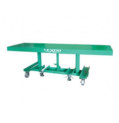 """STN-2010-2F Lexco Long Deck Hydraulic Foot Operated 2,000 lbs Capacity 10' x 20"""" Lift Table"""