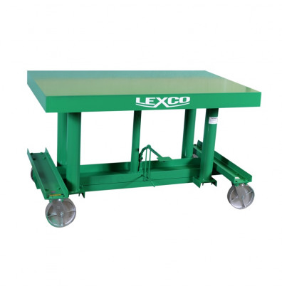 """STN-3605-3F Lexco Load Long Deck Hydraulic Foot Operated 3,000 lbs Capacity 5' x 36"""" Lift Table"""
