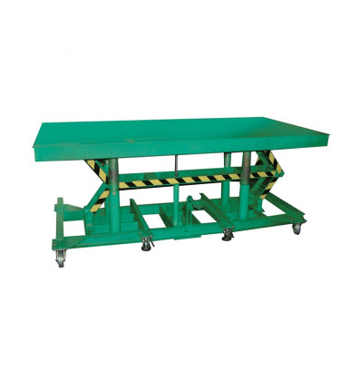 "STN-3610-5F Lexco Load Stabilizer Long Deck Hydraulic Foot Operated 5,000 lbs Capacity 10' x 36"" Lift Table"