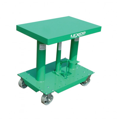"""Lexco HT-416-FR 28-44"""" Height 400 lb Load 18"""" x 24"""" Hydraulic Lift Table"""