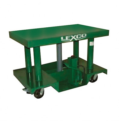 """Lexco HT-3033-22 30-52"""" Height 3000 lb Load 30"""" x 30"""" Hydraulic Lift Table"""