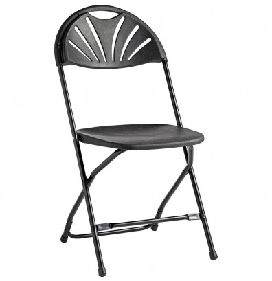 Samsonite 2000 Series Fanback Folding Chair, Pack of 10 (Shown in Black)