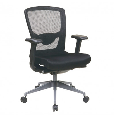 Office Star ProGrid Mesh-Back Fabric Mid-Back Executive Office Chair (Model 511343AT)