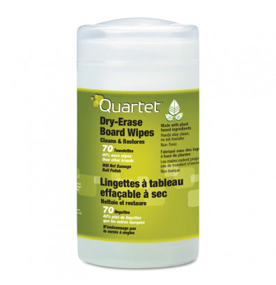 Quartet Dry Erase Board Cleaner 70 Wipes/Can