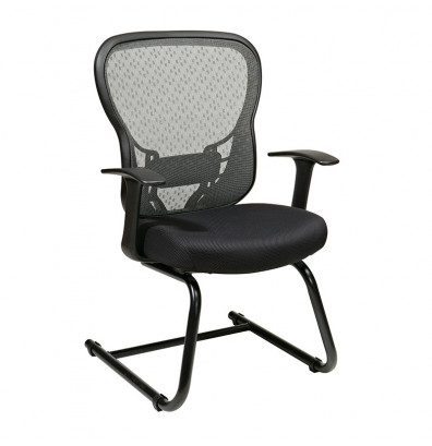 Office Star Deluxe R2 SpaceGrid Mesh Mid-Back Guest Chair