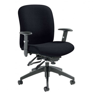 Global Truform 5451-3 Fabric Multi-Tilter Mid-Back Office Chair - Shown in Black