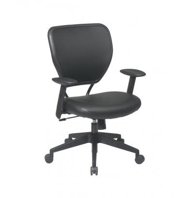 Office Star Professional AirGrid Mesh-Back Vinyl Mid-Back Managers Chair (Model 5500V)