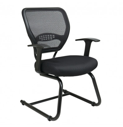 Office Star Space Seating Professional AirGrid Mesh Mid-Back Guest Chair