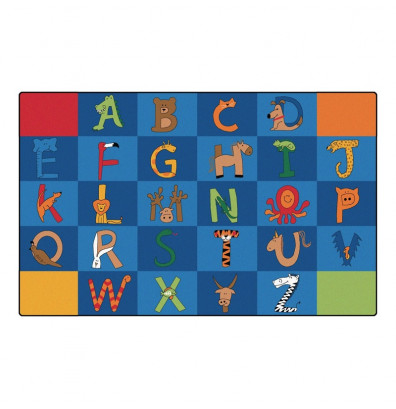 Carpets for Kids A to Z Animals Classroom Rug