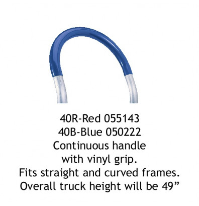 Wesco 40R Continuous Handle with Red Vinyl Grip for Straight and Curved Frames