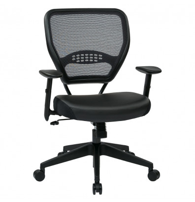 Office Star Space Seating Professional AirGrid Mesh-Back Eco-Leather Mid-Back Managers Chair
