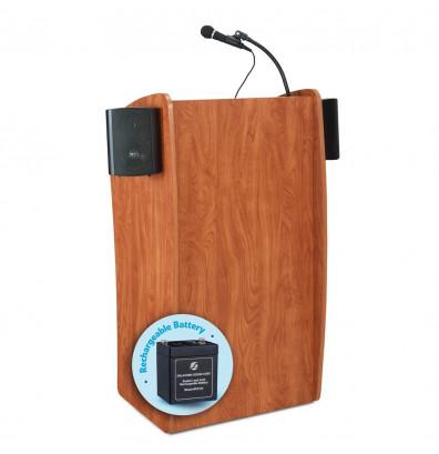 Oklahoma Sound Vision Wireless Sound System Lectern, Battery