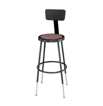 "NPS 25"" - 33"" Height Adjustable Backrest Science Lab Stool (Shown in Black)"