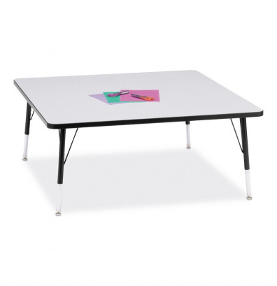 "Jonti-Craft Berries 48"" x 48"" Square Classroom Activity Table (Shown in Grey / Black)"