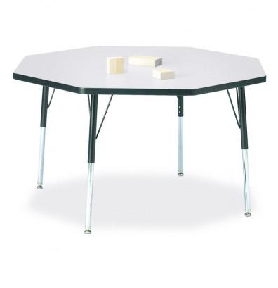 "Jonti-Craft Berries 48"" x 48"" Octagon Classroom Activity Table (Shown in Grey / Black)"