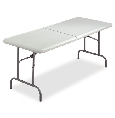 "Iceberg IndestrucTable Too 30"" x 60"" Bi-Fold Folding Table"