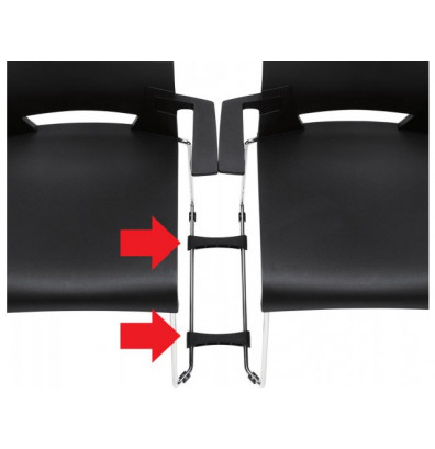 Global 6626 Ganging Bracket Set for All Armchairs and Standard Armless Models (Set of 2)