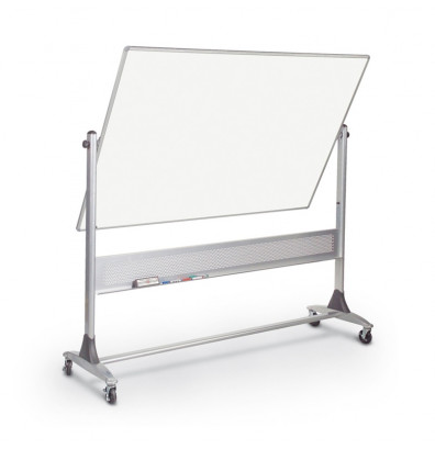 Best-Rite 669RG-DD Porcelain 6 ft. x 4 ft. Aluminum Trim Reversible Board - Accessories are not included.