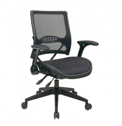Office Star Space Seating Professional AirGrid Mesh Mid-Back Managers Chair (Shown in Black)