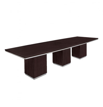 Dmi Furniture Pimlico 12 Ft Boat Shaped Conference Table Shown In Mocha