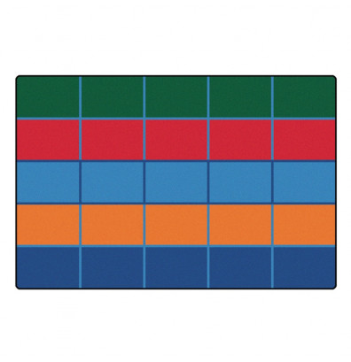 Carpets for Kids Color Blocks Seating Rectangle Classroom Rug