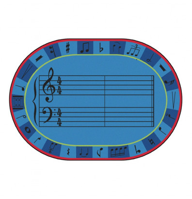 Carpets for Kids A-Sharp Music Oval Classroom Rug
