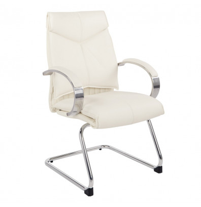 Office Star Pro-Line II Deluxe Leather Mid-Back Guest Chair