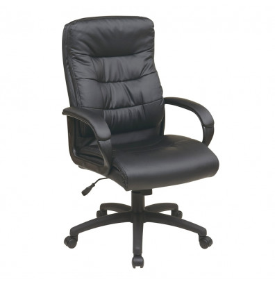 Office Star Faux Leather High-Back Executive Office Chair (Model FL7480-U6)