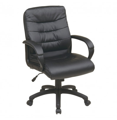 Office Star Faux Leather Mid-Back Executive Office Chair (Model FL7481-U6)