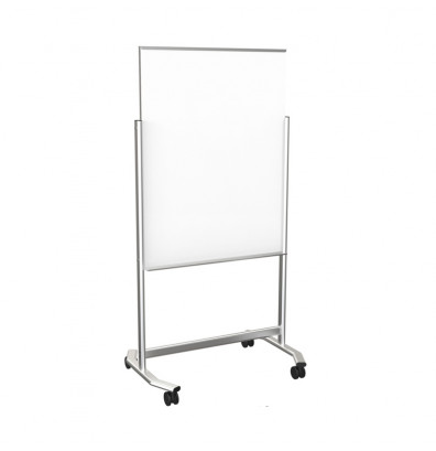 Best-Rite 74950 Visionary Move 3 ft. x 4 ft. Magnetic Mobile Glass Whiteboard