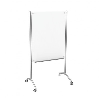 Best-Rite 74954 Enlighten 4 ft. x 3 ft. Non-Magnetic Mobile Glass Whiteboard