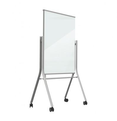 Best-Rite 74955 Visionary Curve 3 ft. x 4 ft. Mobile Magnetic Glass Whiteboard