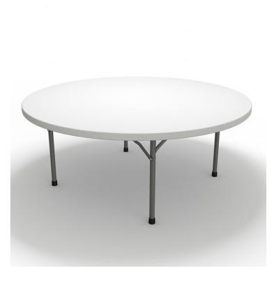 mayline event 72 round plastic folding table white. Black Bedroom Furniture Sets. Home Design Ideas