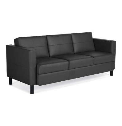 Global Citi 7877 Faux Leather Lounge Reception Sofa