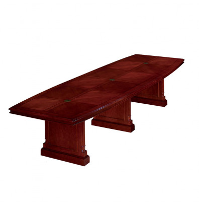 DMI Furniture Keswick EX Ft BoatShaped Expandable - 12 foot boat shaped conference table