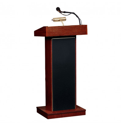 Oklahoma Sound Orator Sound System Lectern (Shown in Mahogany)