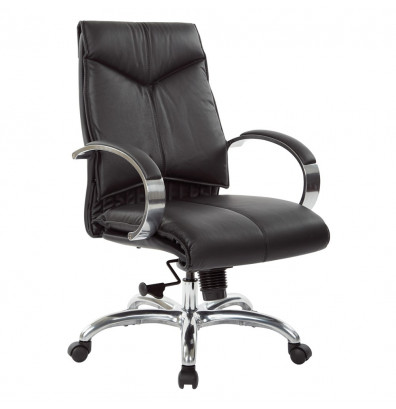 Office Star Deluxe Top Grain Leather Mid-Back Executive Office Chair (Model 8201)