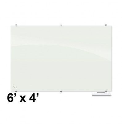Best-Rite Visionary 6 ft. x 4 ft. Magnetic Glass Whiteboard (Shown in Glossy White)