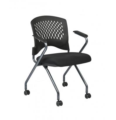Office Star 2-Pack Deluxe FreeFlex Fabric Nesting Folding Chair (Model 84330-30)
