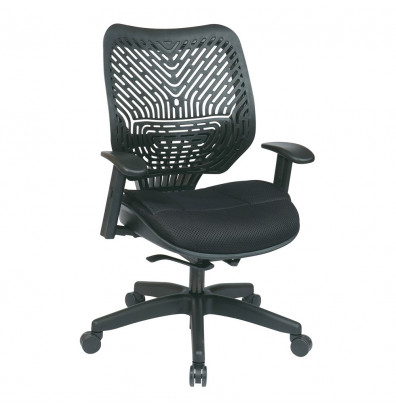 Office Star REVV Self Adjusting SpaceFlex Plastic-Back Mesh Mid-Back Managers Chair (Model 86-M33BN2W)
