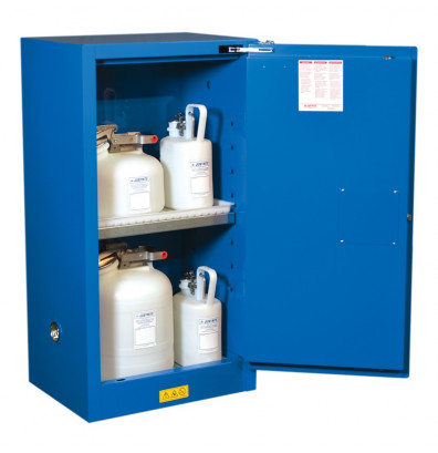 Justrite Sure Grip EX 861528 Compact 15 Gal Self Closing Hazardous Material  Storage Cabinet