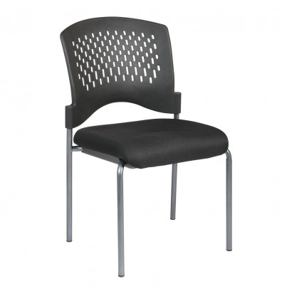 Office Star Pro-Line II Wrap Around Plastic-Back Fabric Stacking Guest Chair