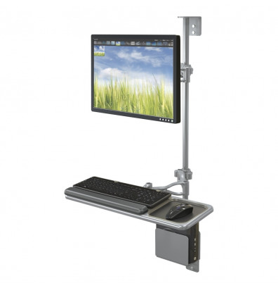 Balt 90377 Single Monitor Adjustable Wall Mount Workstation