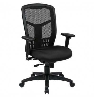 Office Star Pro-Line II ProGrid Mesh-Back FreeFlex Fabric High-Back Managers Chair