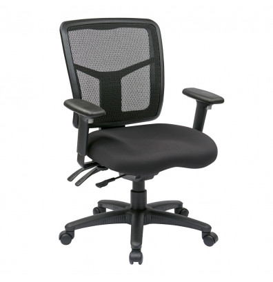 Office Star Dual-Function ProGrid Mesh-Back Fabric Mid-Back Managers Chair (Model 92343-30)