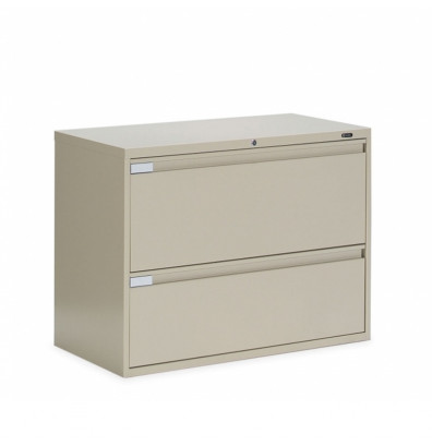 "Global 9336P-2F1H 2-Drawer 36"" Wide Lateral File Cabinet, Letter & Legal (Shown in Desert Putty)"