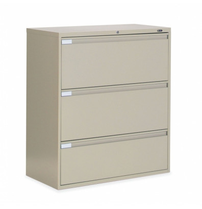 "Global 9336P-3F1H 3-Drawer 36"" Wide Lateral File Cabinet, Letter & Legal (Shown in Desert Putty)"