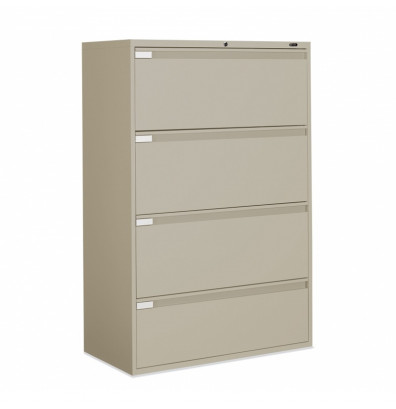 "Global 9342P-4F1H 4-Drawer 42"" Wide Lateral File Cabinet, Letter & Legal (Shown in Desert Putty)"