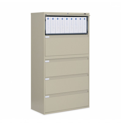 """Global 9336P-5F1H 5-Drawer 36"""" Wide Lateral File Cabinet, Letter & Legal (Shown in Desert Putty)"""